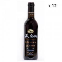 12 Botellas Vino Reserva Valdepeñas Pata Negra