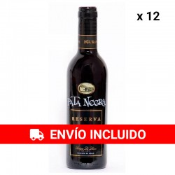 12 Botellas Vino Pata Negra Reserva con D.O Valdepeñas 37.5cl