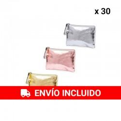 Pack 30 Monederos Metalizados colores variados
