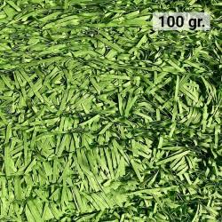 100 gr. de papel kraft verde retro en virutas, relleno para decoración y embalaje