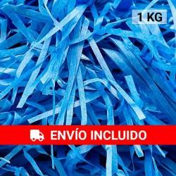 1 KG de papel kraft azulón en virutas, relleno para decoración y embalaje