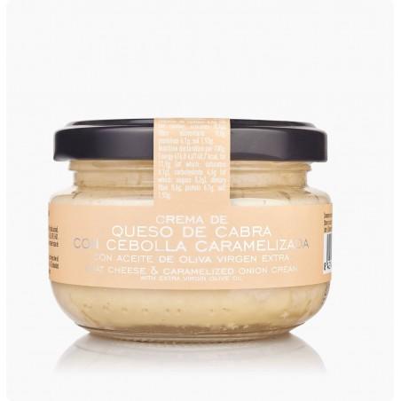 Exquisita crema de Queso de Cabra con Cebolla caramelizada