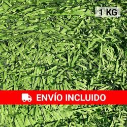 1 KG de papel kraft verde retro en virutas, relleno para decoración y embalaje