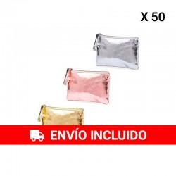 (Amazon) 50 Monederos metalizados surtidos.