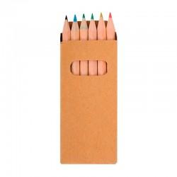 Pack de 6 mini lápices de colores