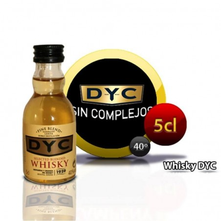 Bottle miniature whisky DYC