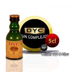 Miniature whiskey bottle DYC 8