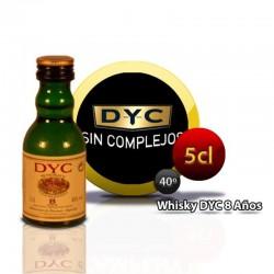Miniature whiskey bottle DYC 8