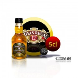 Miniature whiskey bottle Chivas Regal 12 años