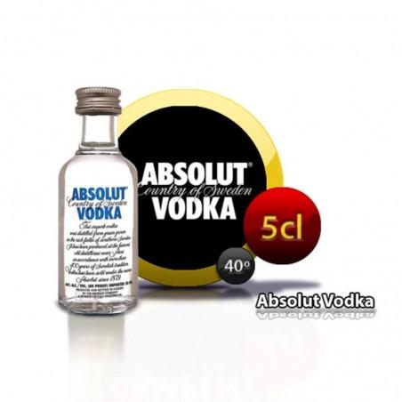 Miniature vodka Absolut