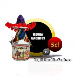 Tequila Panchitos Sombrero Mini para regalos de bodas
