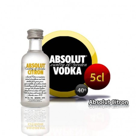 Miniatura Absolut Citron vodka para regalos