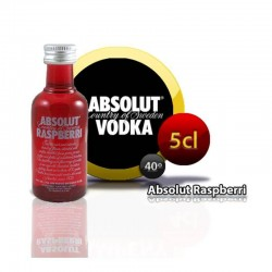 Miniature Absolut Raspberri for weddings