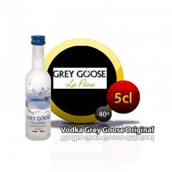 Miniature vodka Gray Goose...