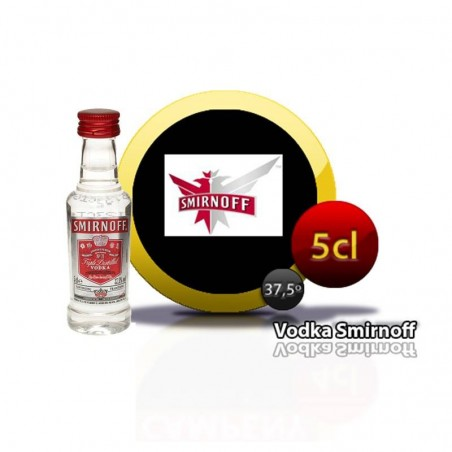 Smirnoff vodka miniature for gifts of communions