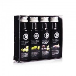 Box of 4 olive oils miniatures,for gifts