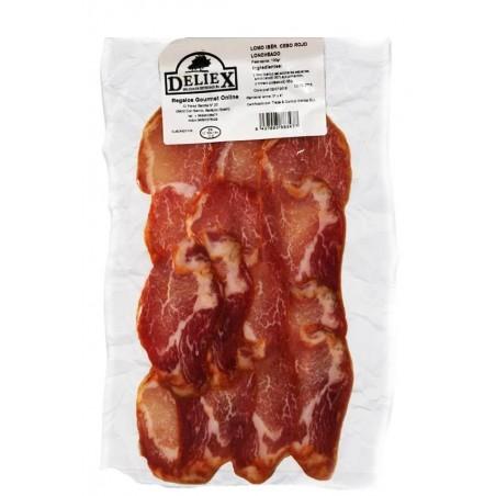 loin iberian pork red sliced