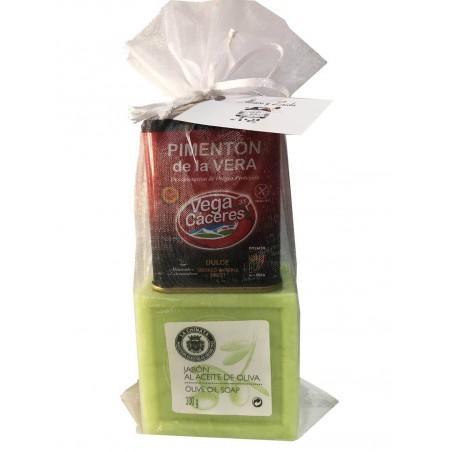 Cadeau avec savon naturel et paprika de la Vera