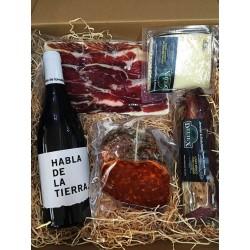 Pack cadeau ibériques et vins