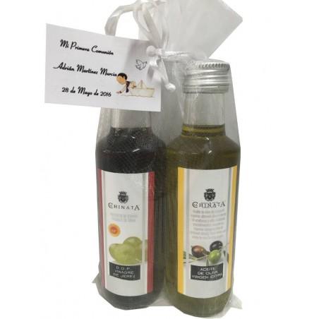Miniatures d'huile d'olive et vinaigre spécial événements