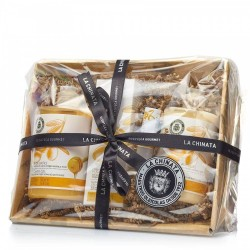 Basket of natural cosmetics honey