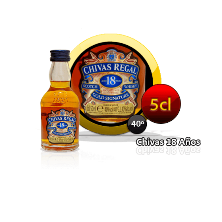 Chivas Regal 18 years in miniautre for events