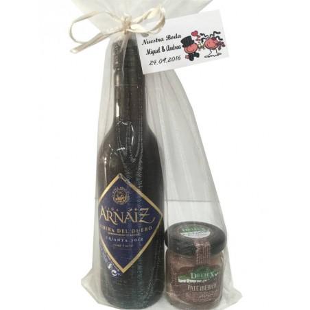 Pack cadeau Vin Arnáiz avec pot de pâté