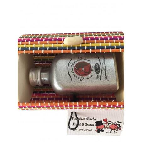 Mini baúl con licor 5 cl  para detalles