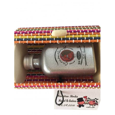 Miniature trunk with liquor of 5 cl