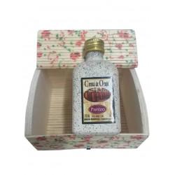 Licor de crema de orujo con baúl mini