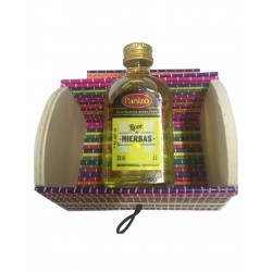 Miniature of liquor of herbs with trunk