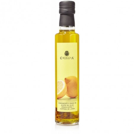 Olive oil flavored with lemon