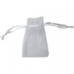 White organza bag 11x20