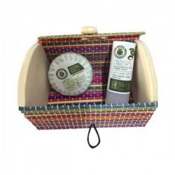 Set de cosmética natural en baúl pequeño