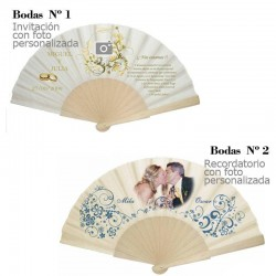 Wedding Fan with photo for...