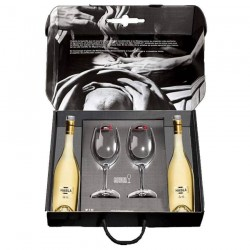 "Case with 2 bottle of "" Habla de ti"" and 2 wineglass ""Riedel"""