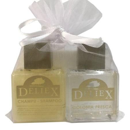 Set de cologne et shampoing marque Deliex.