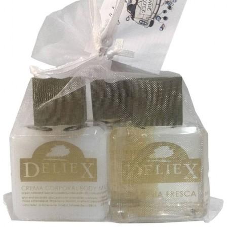 Créme bodymilk, sels du bain et eau d'cologne Deliex