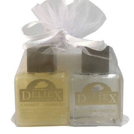 Bar of soap, cologne and shampoing Deliex