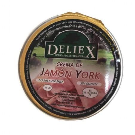 Crema de Jamón York monodosis 25gr Deliex