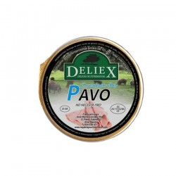 Cream of turkey pate single dose of 25 gr Deliex
