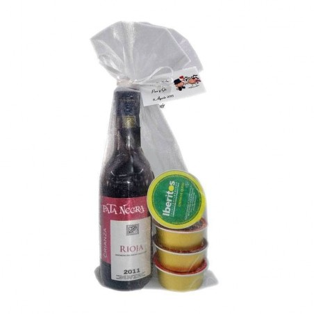 Wine wedding pack Pata Negra with four pates