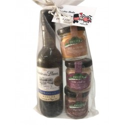 "Pack Wine ""Senorio de los Llanos"" with three pâtés for weddings"