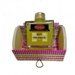 Licor Panizo con baúl de colores
