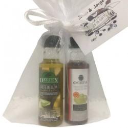 Pack detalle miniaturas aceite de oliva y vinagre