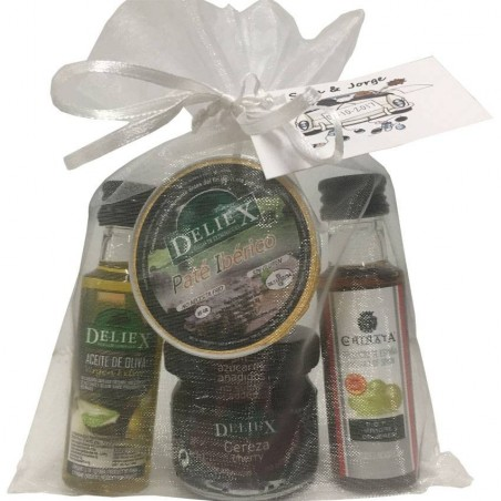 Jam, pate oil and vinegar gift