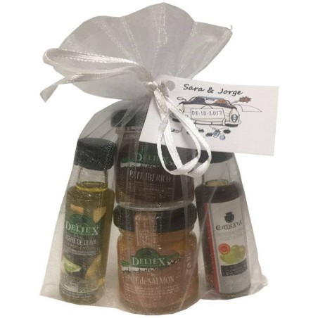Gifts with oil, vinegar and pâté miniature