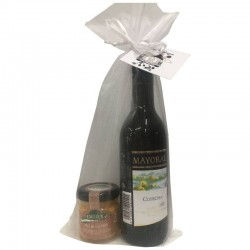 Mayoral vintage wine and salmon pate for gift