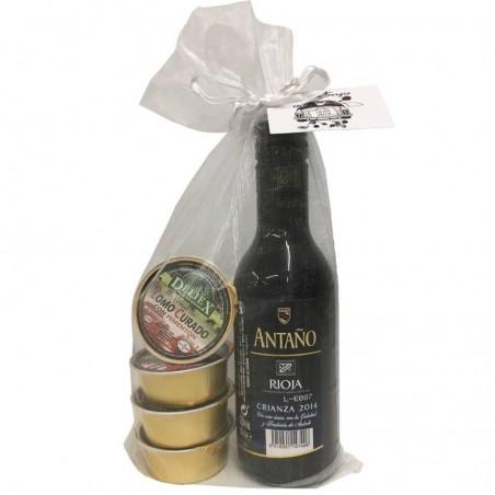 Pack de Rioja Crianza con cuatro monodosis de paté