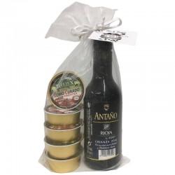 Pack de Rioja Crianza con cinco monodosis de paté